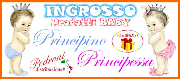 INGROSSO PRODUTTORE ARTICOLI BABY PRINCIPINO PRINCIPESSA