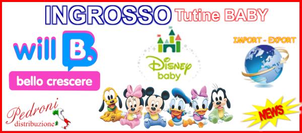 INGROSSO PRODUTTORE CINIGLIA TUTINE BABY DISNEY WILL B