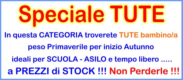 INGROSSO TUTE bambino/a STOCK