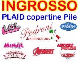 PLAID DISNEY ingrosso produttore importatore PLAID STOCK DISNEY - STOCK PLAID CARTOON